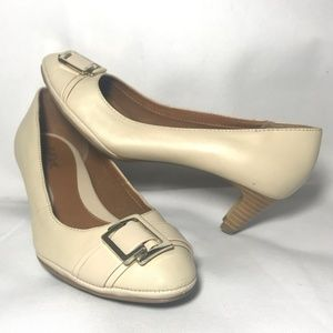 Euro Soft by Sofft Buckle Detail Tan Office Pumps